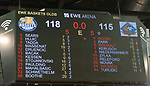 10.05.2019, EWE Arena, Oldenburg, GER, easy Credit-BBL, EWE Baskets Oldenburg vs Mitteldeutscher BC, im Bild<br /> Anzeigentafel mit dem Endstand nach Verlaengerung! Die EWE Baskets gewinnen 118 zu 115. Bester Werfer bei den Baskets ist Rashid MAHALBASIC (EWE Baskets Oldenburg #24 ) mit 27 Punkten  beim MBC David BREMBLY (Mitteldeutscher BC #6 ) mit 22 Punkten<br /> <br /> Foto © nordphoto / Rojahn