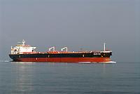 - oil tanker ship in navigation in the northern Adriatic sea ....- nave petroliera in navigazione nel mare Adriatico settentrionale