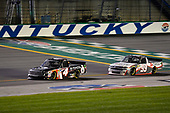 NASCAR Camping World Truck Series<br /> Buckle Up In Your Truck 225<br /> Kentucky Speedway, Sparta, KY USA<br /> Friday 7 July 2017<br /> Christopher Bell, Toyota Toyota Tundra and Brandon Jones, CHIGO Chevrolet Silverado<br /> World Copyright: Barry Cantrell<br /> LAT Images