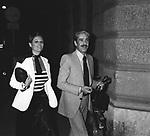CLAUDIA CARDINALE CON FRANCO CRISTALDI<br /> ROMA 1972