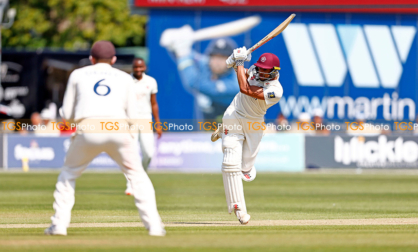 Emilio Gay bats for Northants during Kent CCC vs Northamptonshire CCC, LV Insurance County Championship Group 3 Cricket at The Spitfire Ground on 3rd June 2021