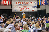 Iditarod president Andy Baker at the 2016 Iditarod musher position drawing banquet at the Dena'ina convention center in Anchorage, Alaska on Thursday March 3, 2016  <br /> <br /> © Jeff Schultz/SchultzPhoto.com ALL RIGHTS RESERVED<br /> DO NOT REPRODUCE WITHOUT PERMISSION