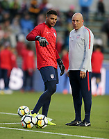 Cary, N.C. - Tuesday March 27, 2018: Zack Steffen, Matt Reis during an International friendly game between the men's national teams of the United States (USA) and Paraguay (PAR) at Sahlen's Stadium at WakeMed Soccer Park.