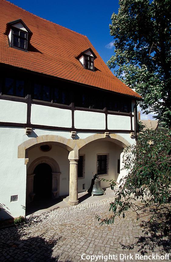 Deutschland, Sachsen-Anhalt, Geburtshaus von Luther in Eisleben, Unesco-Weltkulturerbe.Matin Luther's birthplace, world heritage