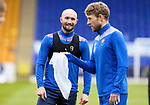 St Johnstone Training...14.05.21<br />Striker Chris Kane pictured during training at McDiarmid Park this morning ahead of tomorrows final league game of the season against Livingston.<br />Picture by Graeme Hart.<br />Copyright Perthshire Picture Agency<br />Tel: 01738 623350  Mobile: 07990 594431
