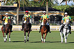 WELLINGTON, FL - NOVEMBER 25:  Team Brazil (Flavio Castillo, Gustavo Toledo, Caio Mello and Guilherme Lins) passes by the stands, at the USPA International Cup at the Grand Champions Polo Club, on November 25, 2017 in Wellington, Florida. (Photo by Liz Lamont/Eclipse Sportswire/Getty Images)
