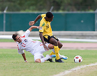 Shawn-Claud Lawson, Bryan Santamaria. Panama defeated Jamaica, 1-0, during the third place game of the CONCACAF Men's Under 17 Championship at Catherine Hall Stadium in Montego Bay, Jamaica.