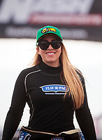 Feb 23, 2020; Chandler, Arizona, USA; NHRA top fuel driver Brittany Force during the Arizona Nationals at Wild Horse Pass Motorsports Park. Mandatory Credit: Mark J. Rebilas-USA TODAY Sports