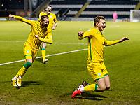 2nd February 2021; St Mirren Park, Paisley, Renfrewshire, Scotland; Scottish Premiership Football, St Mirren versus Hibernian; Ryan Porteous of Hibernian celebrates after scoring the opening goal with Martin Boyle of Hibernian in the 55th minute