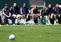 LA Galaxy bench. The LA Galaxy and DC United play to 2-2 draw at Home Depot Center stadium in Carson, California on Sunday March 22, 2009..Photo by Michael Janosz/isi photos.