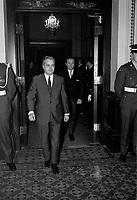 Sujet : Politique - Jean-Jacques Bertrand<br /> Date: 24 février 1970<br /> <br /> Photo : Photo Moderne - © Agence Quebec Presse