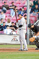July 8, 2009: Tri-City Dust Devils' Joseph Sanders at-bat during a Northwest League game against the Salem-Keizer Volcanoes at Volcanoes Stadium in Salem, Oregon.