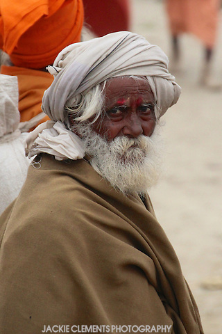 One of the approximately 100 million people who attended the Maha Kumbh Mela, 2013