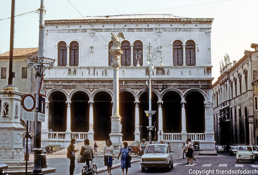 Italy: Padua--Loggia Del Consielio, or Great Guardroom. A Renaissance structure in the Piazza Dei Signori. Photo '83.