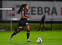 Esther Buabadi (24) of Zulte-Waregem pictured during a female soccer game between Sporting Charleroi and SV Zulte-Waregem on the 12 th matchday of the 2020 - 2021 season of Belgian Scooore Womens Super League , friday 29 th of January 2021  in Marcinelle , Belgium . PHOTO SPORTPIX.BE | SPP | DAVID CATRY
