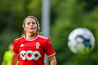 Constance Brackman (20) of Standard pictured during a female soccer game between Standard Femina de Liege and Eendracht Aalst dames on the fourth matchday in the 2021 - 2022 season of the Belgian Scooore Womens Super League , Saturday 11 th of September 2021  in Angleur , Belgium . PHOTO SPORTPIX | BERNARD GILLET
