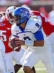 Memphis Tigers quarterback JACOB KARAM (9) in action during the game between the Memphis Tigers and the Southern Methodist Mustangs at the Gerald J. Ford Stadium in Dallas, Texas. SMU defeats Memphis 44 to 13.