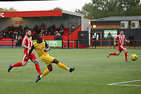 Chris Dickson of Hornchurch goes close to a goal during Bowers & Pitsea vs Hornchurch, Emirates FA Cup Football at The Len Salmon Stadium on 2nd October 2021