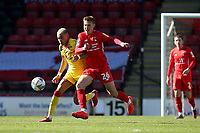 Hector Kyprianou of Leyton Orient and Tyreik Wright of Walsall during Leyton Orient vs Walsall, Sky Bet EFL League 2 Football at The Breyer Group Stadium on 5th April 2021