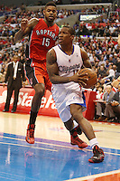 12/09/12 Los Angeles, CA: Los Angeles Clippers point guard Eric Bledsoe #12 during an NBA game between the Los Angeles Clippers and the Toronto Raptors played at Staples Center. The Clippers defeated the Raptors 102-83.
