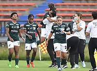 MEDELLÍN- COLOMBIA, 03-08-2021: Jorelyn Carabali convierte para el Cai.Independiente Medellín y Deportivo Cali en partido por la fecha 5 como parte de la Liga Femenina BetPlay DIMAYOR 2020 jugado en el estadio Atanasio Girardot de la ciudad de Medellín  / Jorelyn Carabali player of Cali scores a goal .Independiente Medellin and Deportivo Cali in match for the date 5 as part of Women's BetPlay DIMAYOR 2021 League, played at Atanaso Girardot stadium in Medellin city. Photo: VizzorImage / Luis Benavides/ Contribuidor