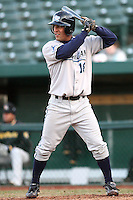 April 4, 2008:  West Michigan Whitecaps starting outfielder Mark McBratney (18) at bat against the South Bend SilverHawks at Coveleski Stadium in South Bend, IN.  Photo by: Chris Proctor/Four Seam Images