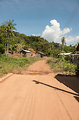 Xingu River, Para State, Brazil. The Volta Grande; Ressaca settlement, old garimeiro illegal gold-mining town. End of the paved road.