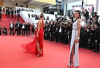 ROSIE HUNTINGTON WHITELEY ALESSANDRA AMBROSIO<br /> MONTEE DES MARCHES DU FILM LA FILLE INCONNUE (THE UNKNOWN GIRL)<br /> RED CARPET OF THE MOVIE LA FILLE INCONNUE (THE UNKNOWN GIRL)<br /> 69 EME FESTIVAL DE CANNES