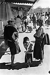 San Cristobal de las Casas, Mexican state of Chipas Mexico. Indigenous Mexican indian family  with daughter and puppy. Wearing traditional clothing.