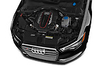 Car stock 2015 Audi S6 Base 4 Door Sedan engine high angle detail view