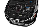 Car stock 2015 Audi S6 Base 4 Door Sedan engine high angle detail view