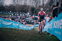 former CX World Champ turned fulltime roadie BOOM Lars (Ned/Roompot-Charles) dropping back into the dirt for this occasion<br /> <br /> Brussels Universities Cyclocross (BEL) 2019<br /> Elite Men's Race<br /> DVV Trofee<br /> ©kramon
