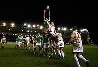 Photo: Richard Lane/Richard Lane Photography. England Legends v Ireland Legends. The Stuart Mangan Memorial Cup. 26/02/2010. Ireland's Paddy John wins a lineout.