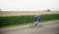 Niki Terpstra (NLD/OPQS) on his way to a solo victory<br /> <br /> Dwars Door Vlaanderen 2014