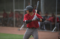 Arizona Diamondbacks catcher Andy Yerzy (27) at bat during an Extended Spring Training game against the Colorado Rockies at Salt River Fields at Talking Stick on April 16, 2018 in Scottsdale, Arizona. (Zachary Lucy/Four Seam Images)