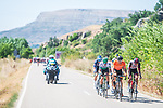 The breakaway during Stage 3 of La Vuelta d'Espana 2021, running 202.8km from Santo Domingo de Silos to Picon Blanco, Spain. 16th August 2021.    <br /> Picture: Unipublic/Charly Lopez | Cyclefile<br /> <br /> All photos usage must carry mandatory copyright credit (© Cyclefile | Unipublic/Charly Lopez)