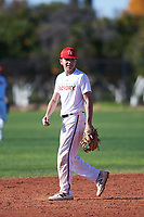 David Balague (43), from San Bruno, California, while playing for the Nationals during the Under Armour Baseball Factory Recruiting Classic at Gene Autry Park on December 30, 2017 in Mesa, Arizona. (Zachary Lucy/Four Seam Images)
