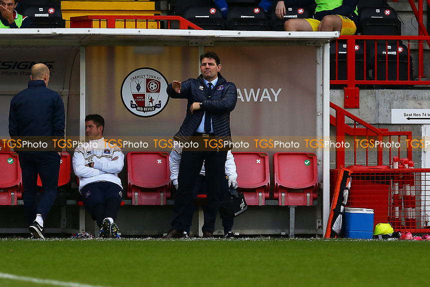 Carlisle United manager Chris Beech during Crawley Town vs Carlisle United, Sky Bet EFL League 2 Football at Broadfield Stadium on 21st November 2020