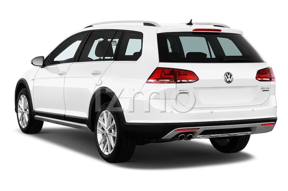Car pictures of rear three quarter view of 2015 Volkswagen Golf Alltrack 5 Door Wagon Angular Rear