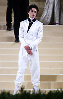 September 13, 2021.Timothee Chalamet attend The 2021 Met Gala Celebrating In America: A Lexicon Of Fashion at<br /> Metropolitan Museum of Art  in New York September 13, 2021 Credit:RW/MediaPunch