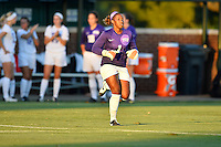 TCU goalkeeper Vittoria Arnold is introduced before NCAA soccer game, Friday, October 03, 2014 in Waco, Tex. TCU draw 1-1 against Baylor in double overtime. (Mo Khursheed/TFV Media via AP Images)