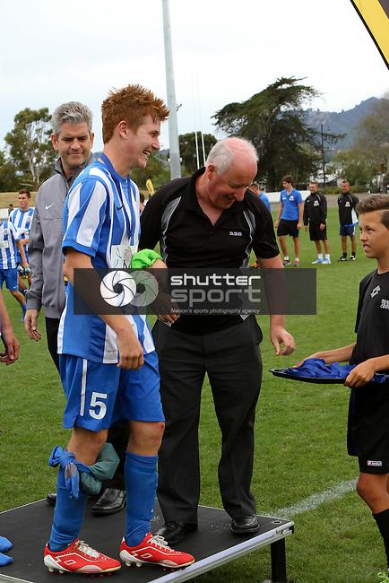 Nelson Marlborough Falcons v Auckland City, ASB Youth League Final, 15 March 2014, Trafalgar Park , Nelson, New Zealand<br /> Photo: Marc Palmano/shuttersport.co.nz
