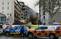 MADRID, SPAIN - JANUARY 20: first responders attend a emergency after a explosion on January 20 in Madrid, Spain.  (Photo by Joan Amengual / VIEWpress