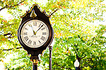 A clock in downtown Keene, New Hampshire.