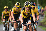 The peloton led by Wout Van Aert (BEL) and Team Jumbo-Visma climb Col de Marie Blanque during Stage 9 of Tour de France 2020, running 153km from Pau to Laruns, France. 6th September 2020. <br /> Picture: ASO/Alex Broadway   Cyclefile<br /> All photos usage must carry mandatory copyright credit (© Cyclefile   ASO/Alex Broadway)