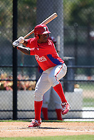 March 30, 2010:  Miguel Alvarez of the Philadelphia Phillies organization during Spring Training at the Carpenter Complex in Clearwater, FL.  Photo By Mike Janes/Four Seam Images