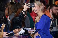 """Brie Larson<br /> arriving for the """"Captain Marvel"""" European premiere at the Curzon Mayfair, London<br /> <br /> ©Ash Knotek  D3484  27/02/2019"""