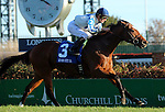November 26, 2015 Heart to Heart (Julien Leparoux) wins the 38th running of the G3 River City Handicap, one and one eighth miles on the turf course. Owner Terry Hamilton, trainer Brian A. Lynch. By English Channel x Ask the Question (Silver Deputy) ©Mary M. Meek/ESW/CSM