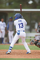 Enmanuel Pire (13) of the ACL Royals Blue during a game against the ACL Diamondbacks on September 17, 2021 at Surprise Stadium in Surprise, Arizona. (Tracy Proffitt/Four Seam Images)