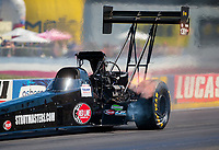 Sep 5, 2020; Clermont, Indiana, United States; NHRA top fuel driver Doug Foley during qualifying for the US Nationals at Lucas Oil Raceway. Mandatory Credit: Mark J. Rebilas-USA TODAY Sports